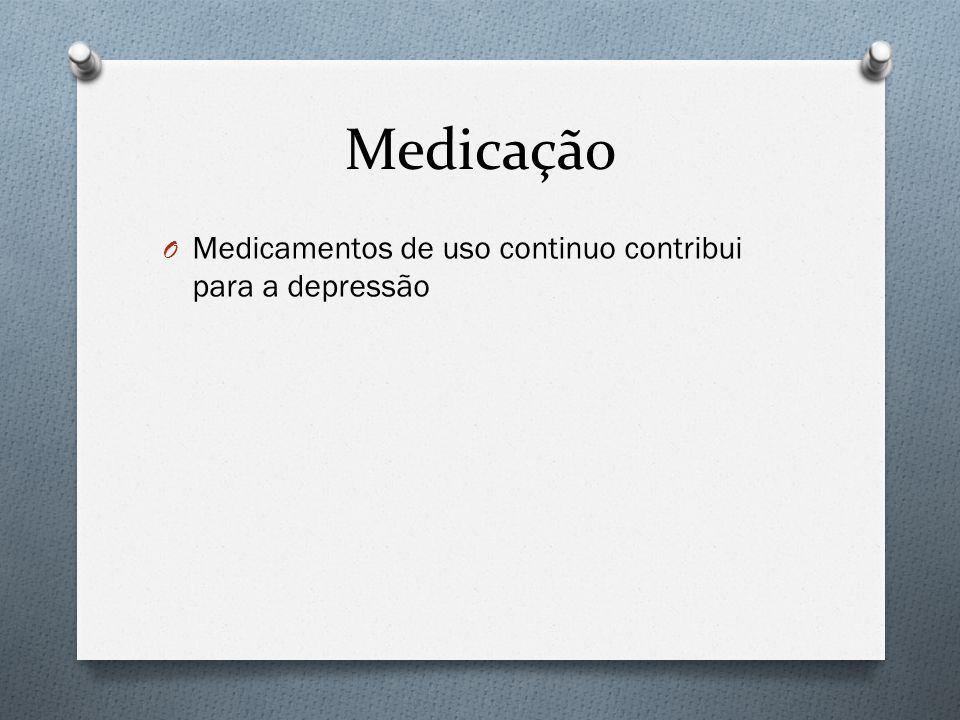 Medicação O Medicamentos de uso continuo contribui para a depressão