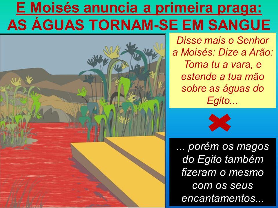 E Moisés anuncia a primeira praga: AS ÁGUAS TORNAM-SE EM SANGUE...