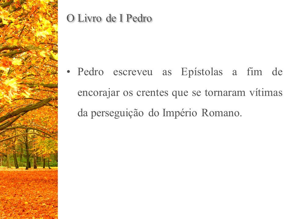 Pedro escreveu as Epístolas a fim de encorajar os crentes que se tornaram vítimas da perseguição do Império Romano.