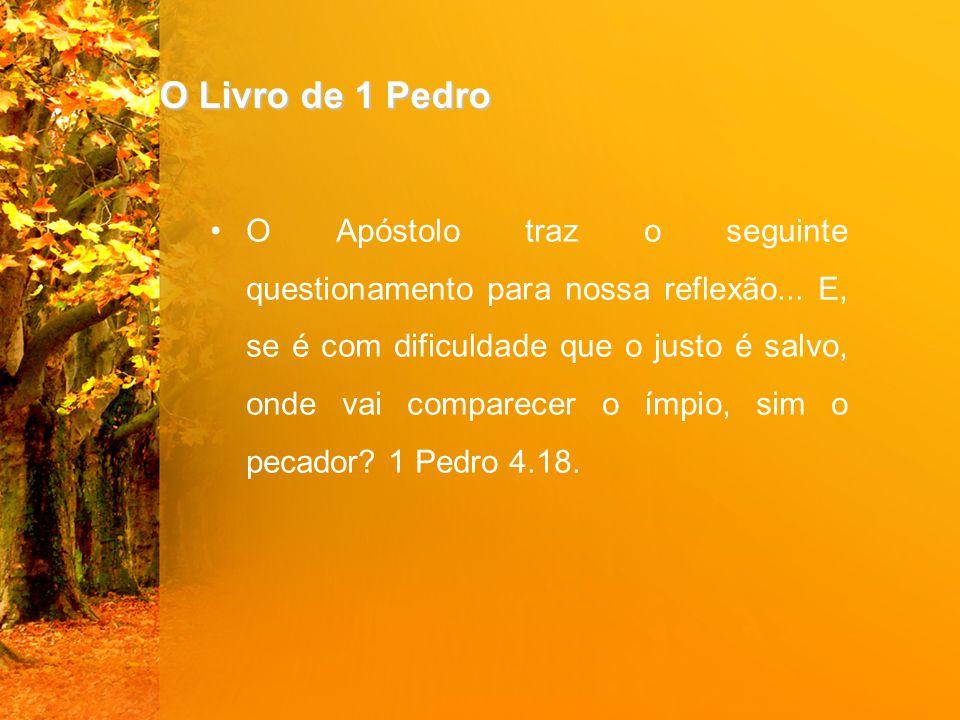 O Livro de 1 Pedro O Apóstolo traz o seguinte questionamento para nossa reflexão...