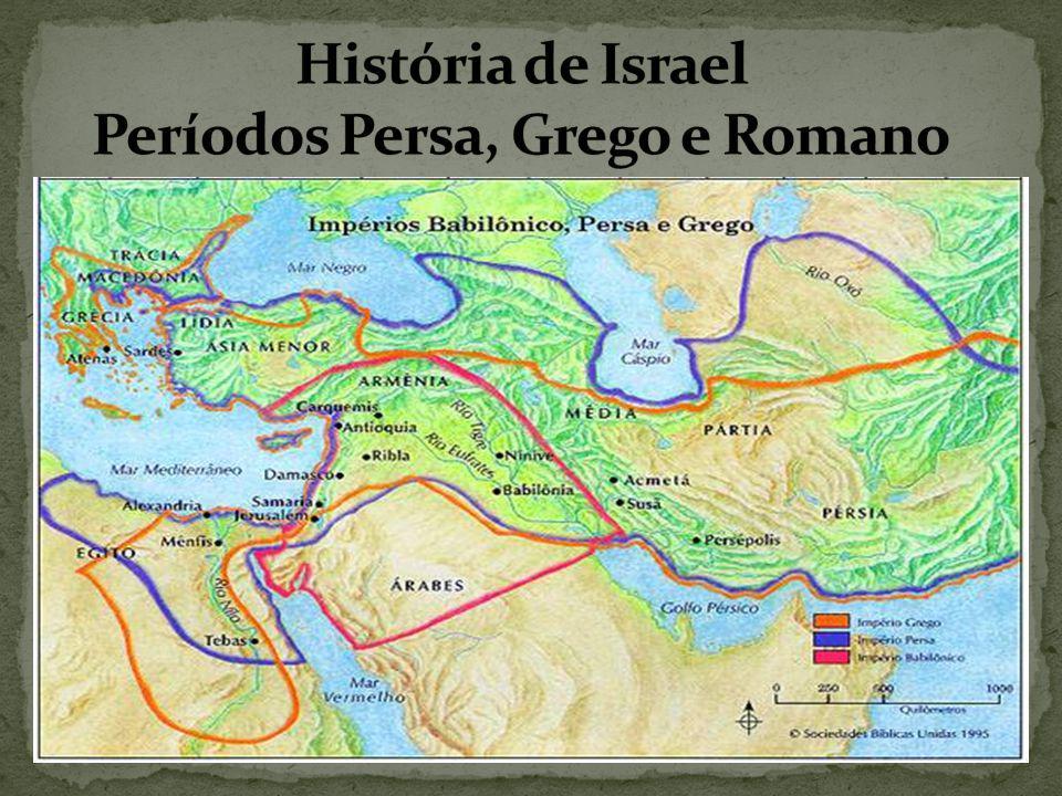 Após uma longa caminhada do povo de Israel e todo sofrimento em busca da Terra Prometida, por volta de 536 a.C.