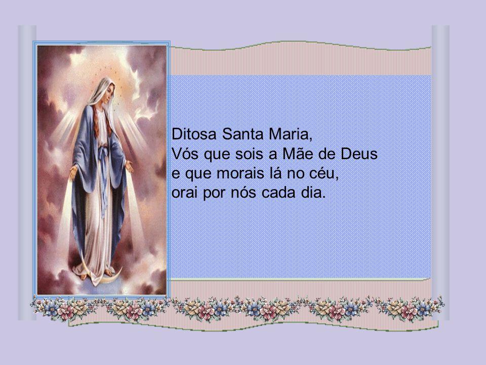 Mais radiante do que a luz e bendito, ó Santa Mãe, é o Fruto que provém do vosso ventre, Jesus!