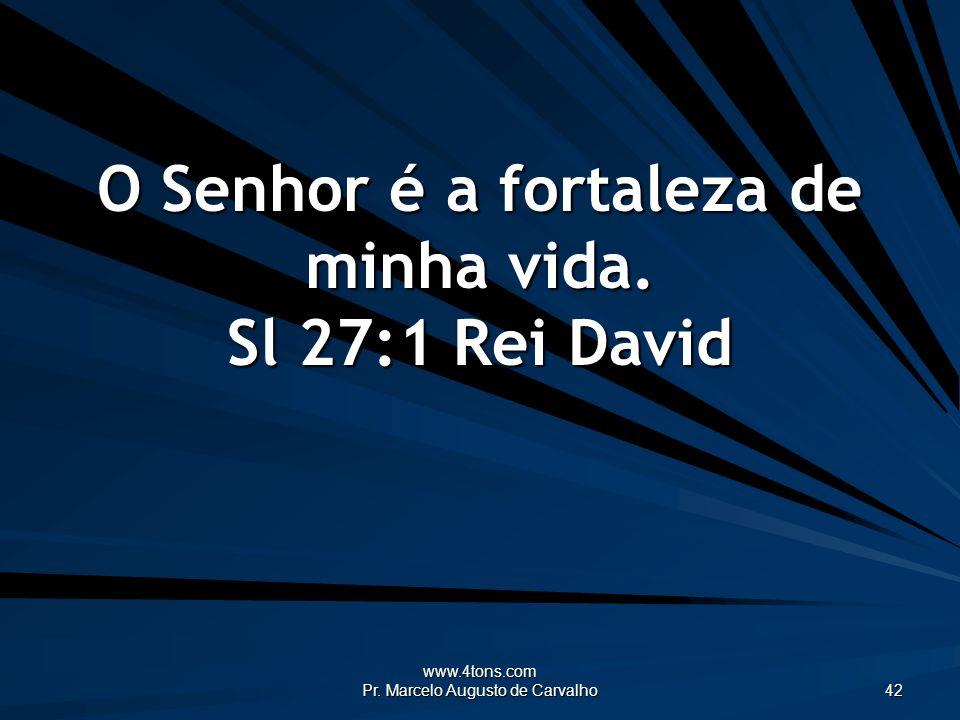 www.4tons.com Pr. Marcelo Augusto de Carvalho 42 O Senhor é a fortaleza de minha vida. Sl 27:1 Rei David