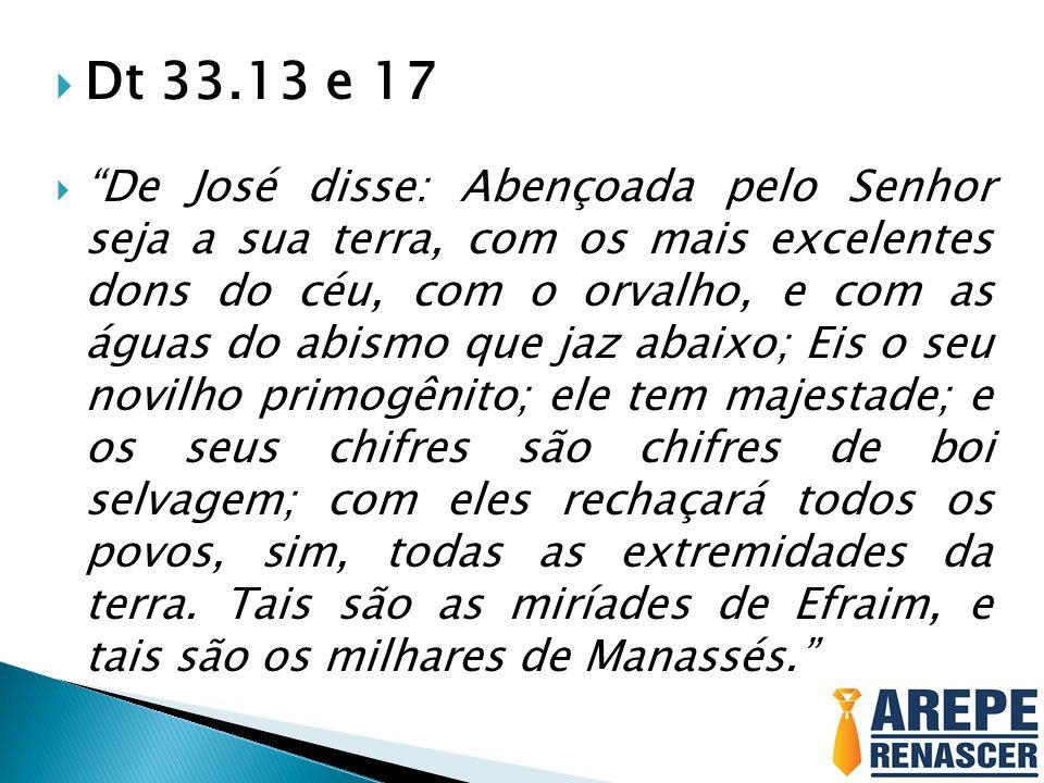  Gn 49.22-24  José é um ramo frutífero, ramo frutífero junto a uma fonte; seus raminhos se estendem sobre o muro.