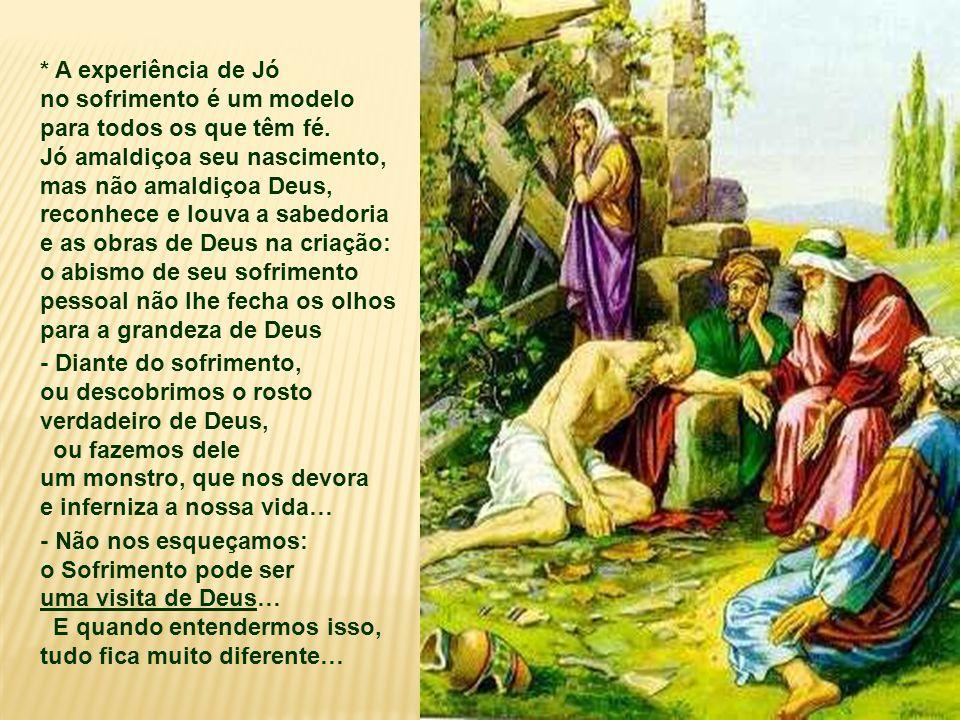 Jó é um homem justo e fiel ao Senhor. Possuía muitos bens e uma família generosa.