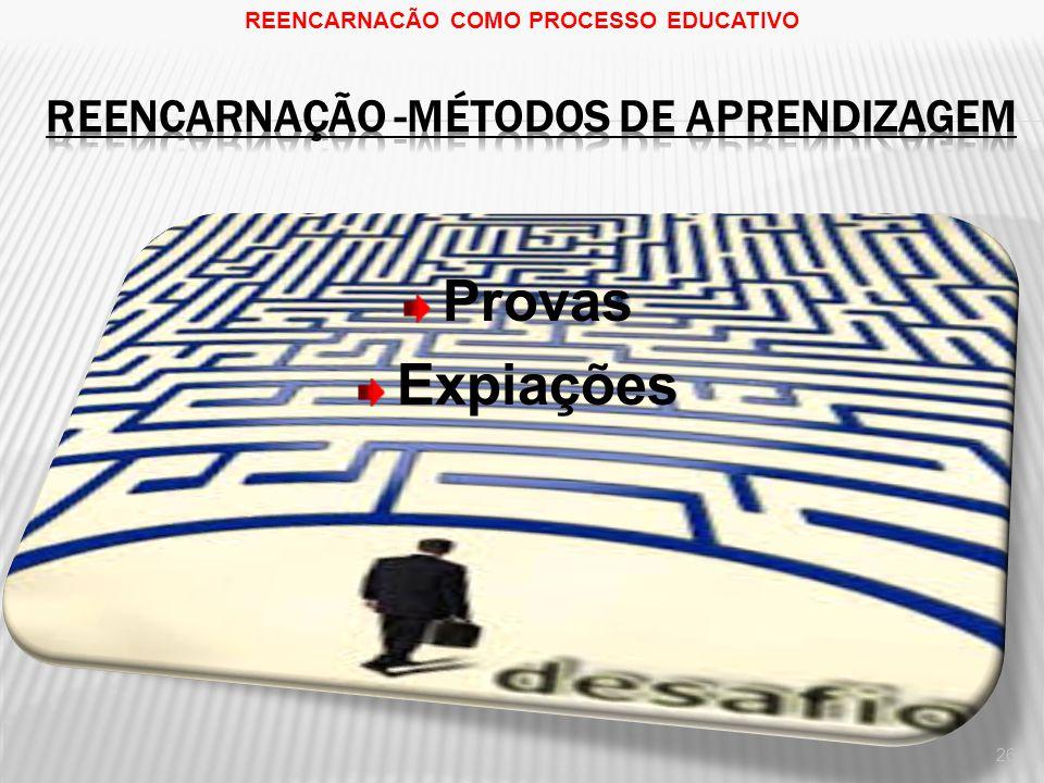 Provas Expiações 26 REENCARNACÃO COMO PROCESSO EDUCATIVO