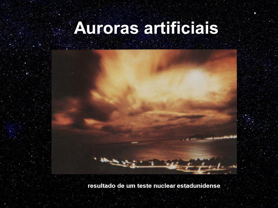 Auroras artificiais resultado de um teste nuclear estadunidense