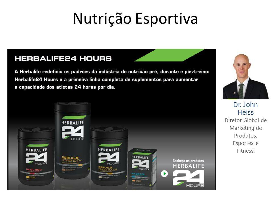 Nutrição Esportiva Dr. John Heiss Diretor Global de Marketing de Produtos, Esportes e Fitness.