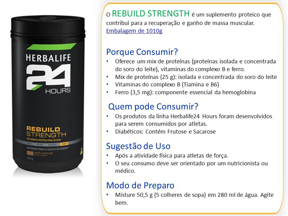 O REBUILD STRENGTH é um suplemento proteico que contribui para a recuperação e ganho de massa muscular. Embalagem de 1010g Embalagem de 1010g Porque C