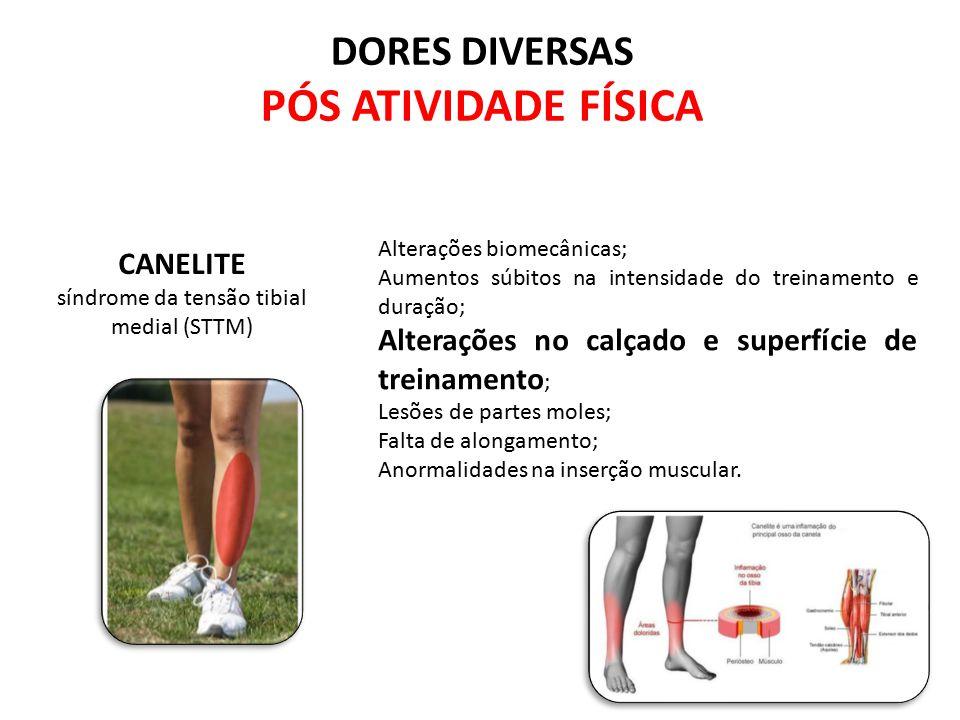 Alterações biomecânicas; Aumentos súbitos na intensidade do treinamento e duração; Alterações no calçado e superfície de treinamento ; Lesões de parte