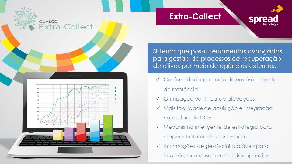 Sistema que possui ferramentas avançadas para gestão de processos de recuperação de ativos por meio de agências externas. Extra-Collect Conformidade p