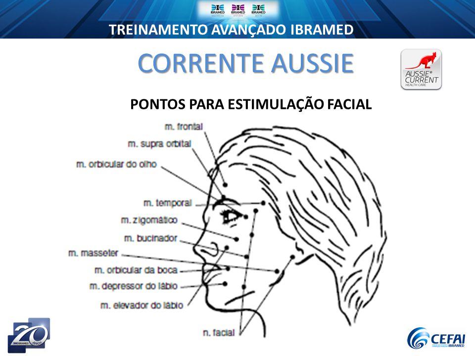 TREINAMENTO AVANÇADO IBRAMED CORRENTE AUSSIE PONTOS PARA ESTIMULAÇÃO FACIAL