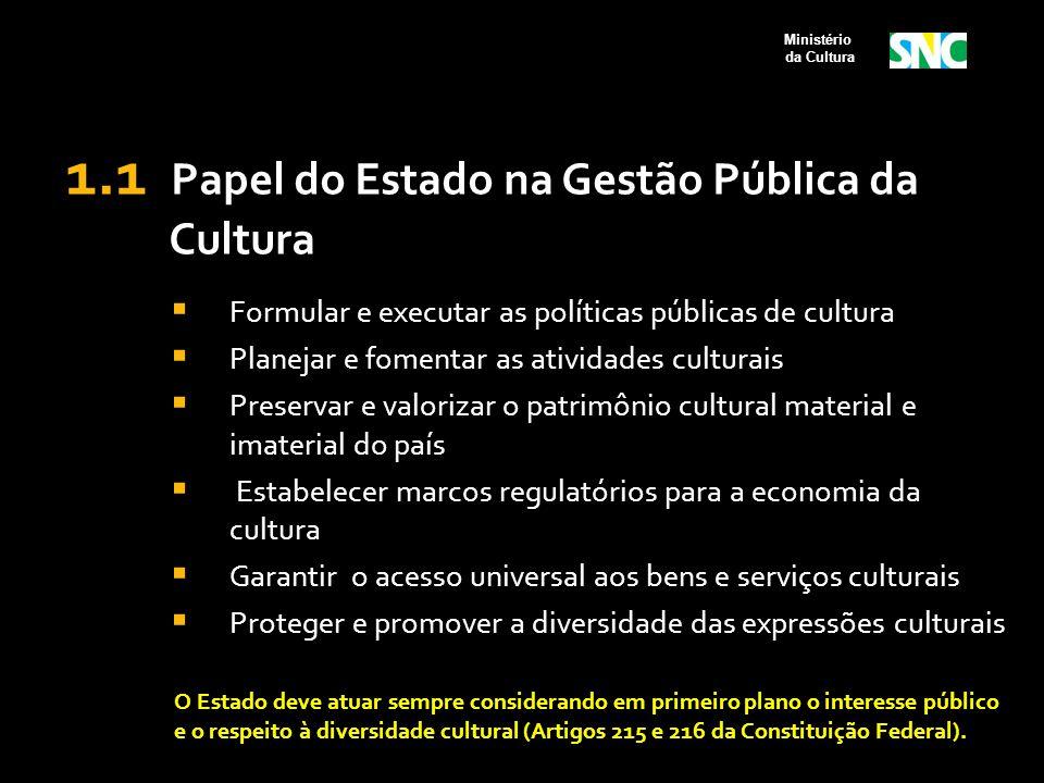 Conselhos de Política Cultural  É recomendável que na representação da sociedade civil sejam contempladas as diversas áreas artísticas e culturais, considerando as dimensões simbólica, cidadã e econômica da cultura, bem como o critério regional na sua composição.