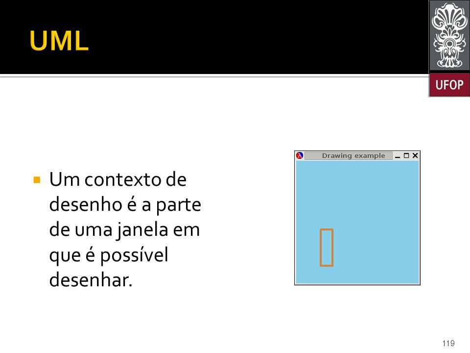  Um contexto de desenho é a parte de uma janela em que é possível desenhar. 119