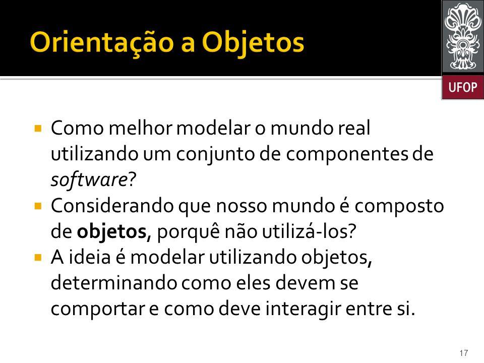  Como melhor modelar o mundo real utilizando um conjunto de componentes de software.