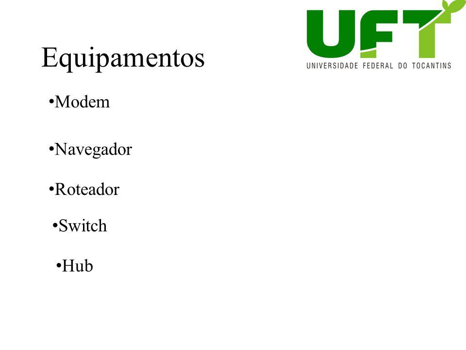 Equipamentos Modem Navegador Roteador Switch Hub