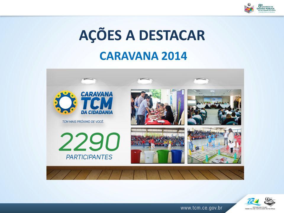 AÇÕES A DESTACAR CARAVANA 2014