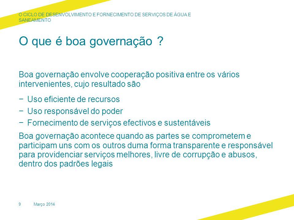 O que é boa governação .