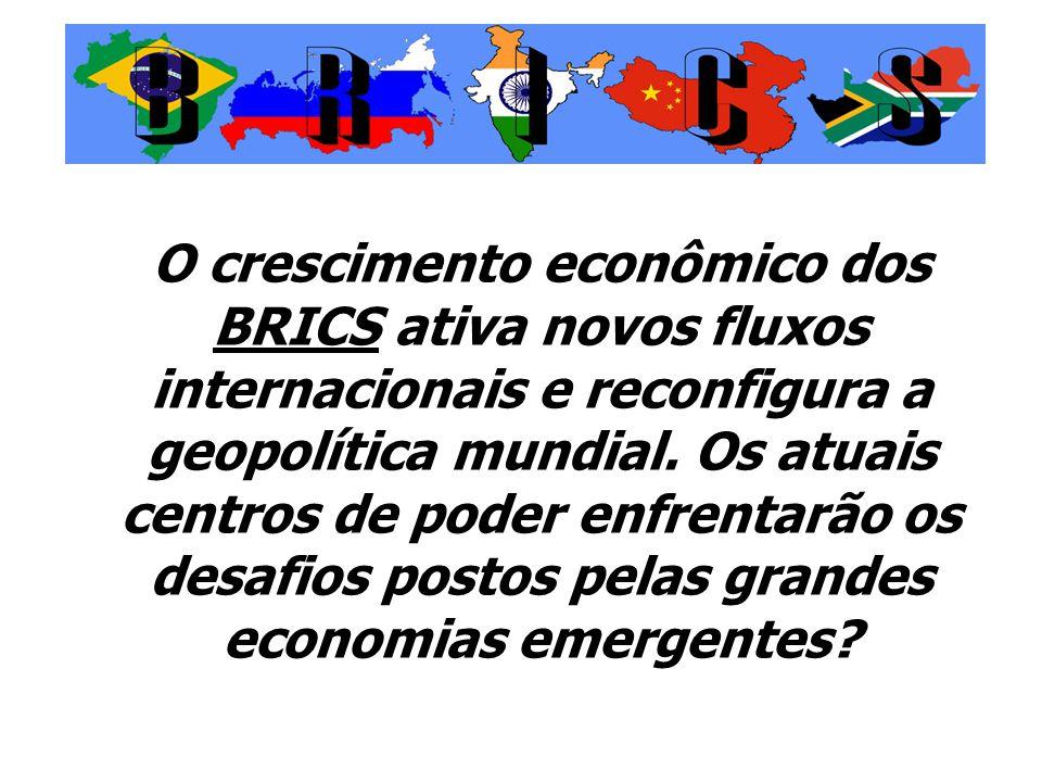 O crescimento econômico dos BRICS ativa novos fluxos internacionais e reconfigura a geopolítica mundial.
