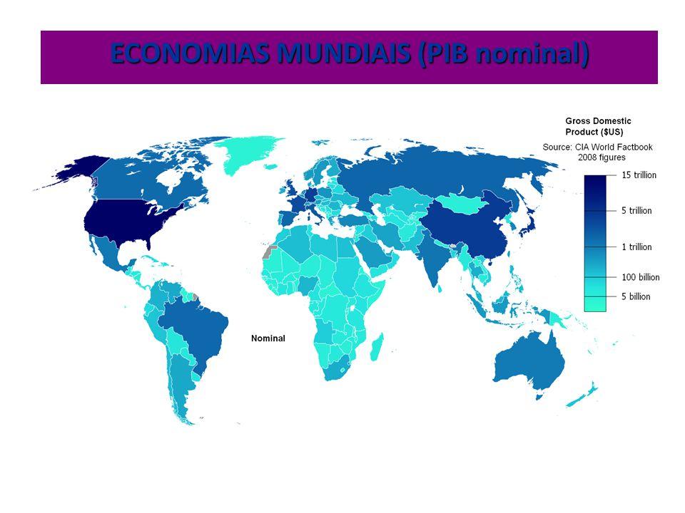ECONOMIAS MUNDIAIS (PIB nominal)