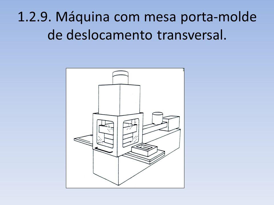1.2.9. Máquina com mesa porta-molde de deslocamento transversal.