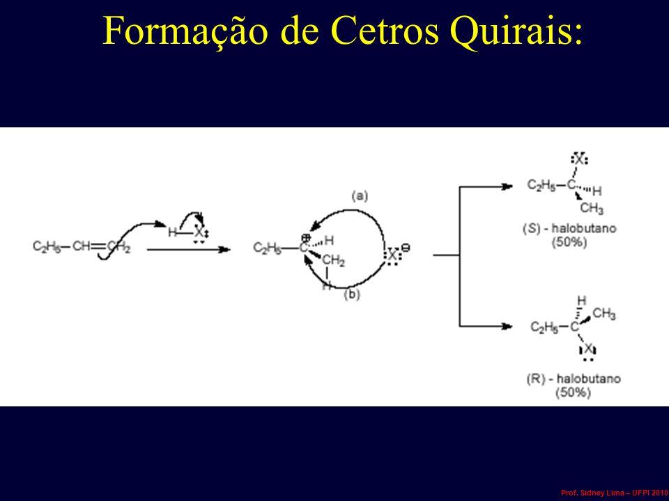 Formação de Cetros Quirais: Prof. Sidney Lima – UFPI 2010