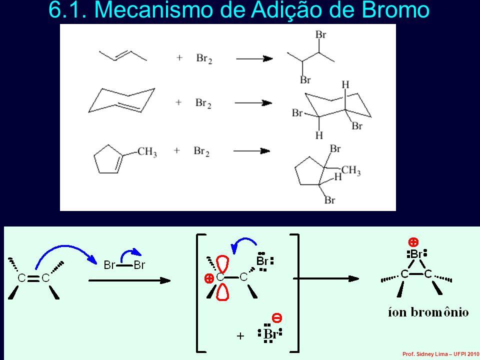 6.1. Mecanismo de Adição de Bromo Prof. Sidney Lima – UFPI 2010