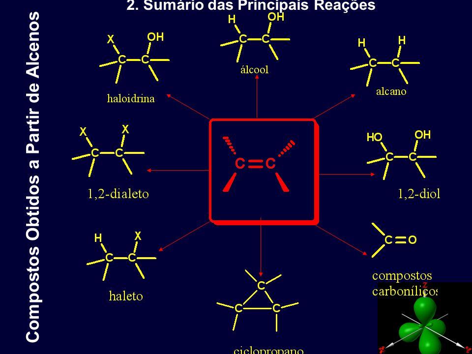 5 - Adição a Dienos Conjugados: Dienos conjugados apresentam todas as reações típicas de alcenos.