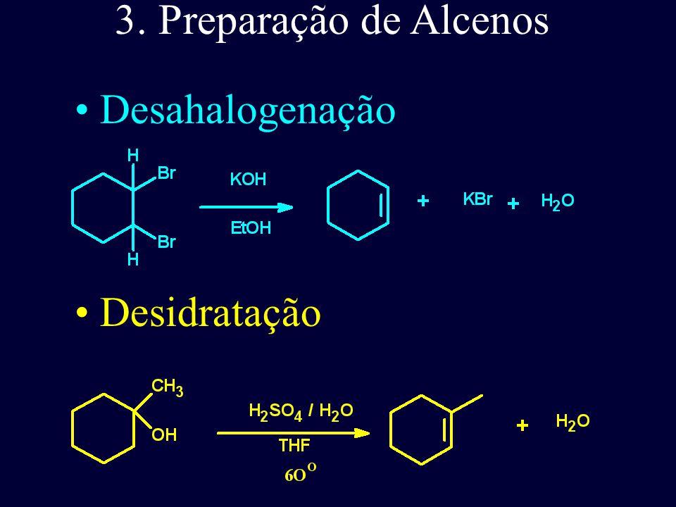 Os valores do HOMO no alceno ( -10,55 eV) e do dieno (9,03 eV) indicam a maior nucleofilicidade dos dienos.