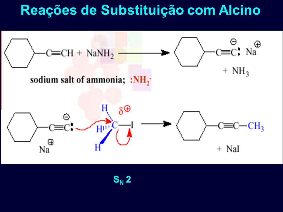 S N 2 Reações de Substituição com Alcino