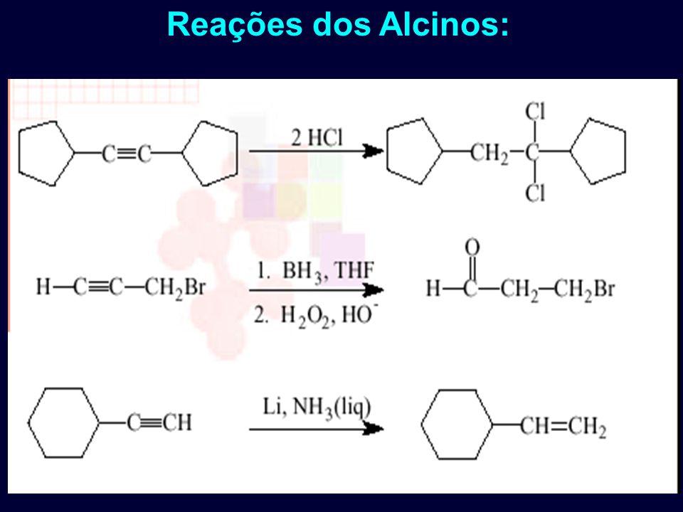 Reações dos Alcinos:
