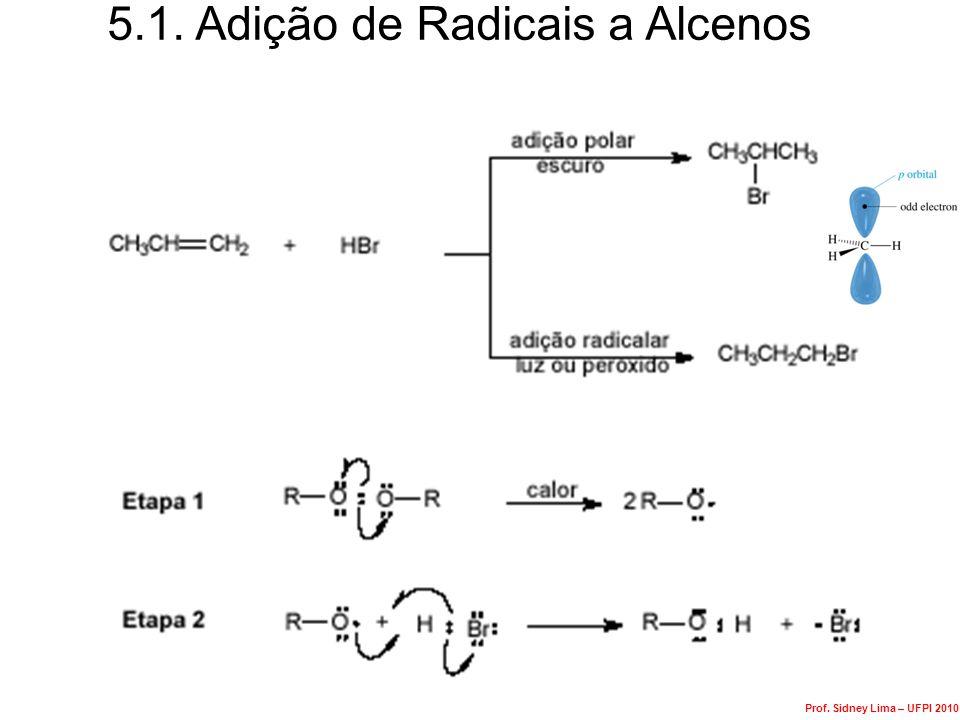 Ozonólise de Alcenos Com work-up redutiva ozonídeo Redução do ozonídeo Prof.