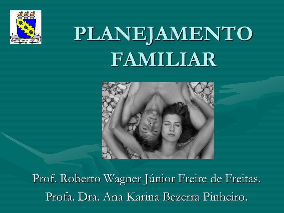 PLANEJAMENTO FAMILIAR Prof. Roberto Wagner Júnior Freire de Freitas. Profa. Dra. Ana Karina Bezerra Pinheiro.
