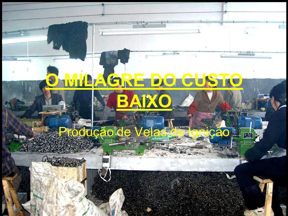 O MILAGRE DO CUSTO BAIXO Produção de Velas de Ignição