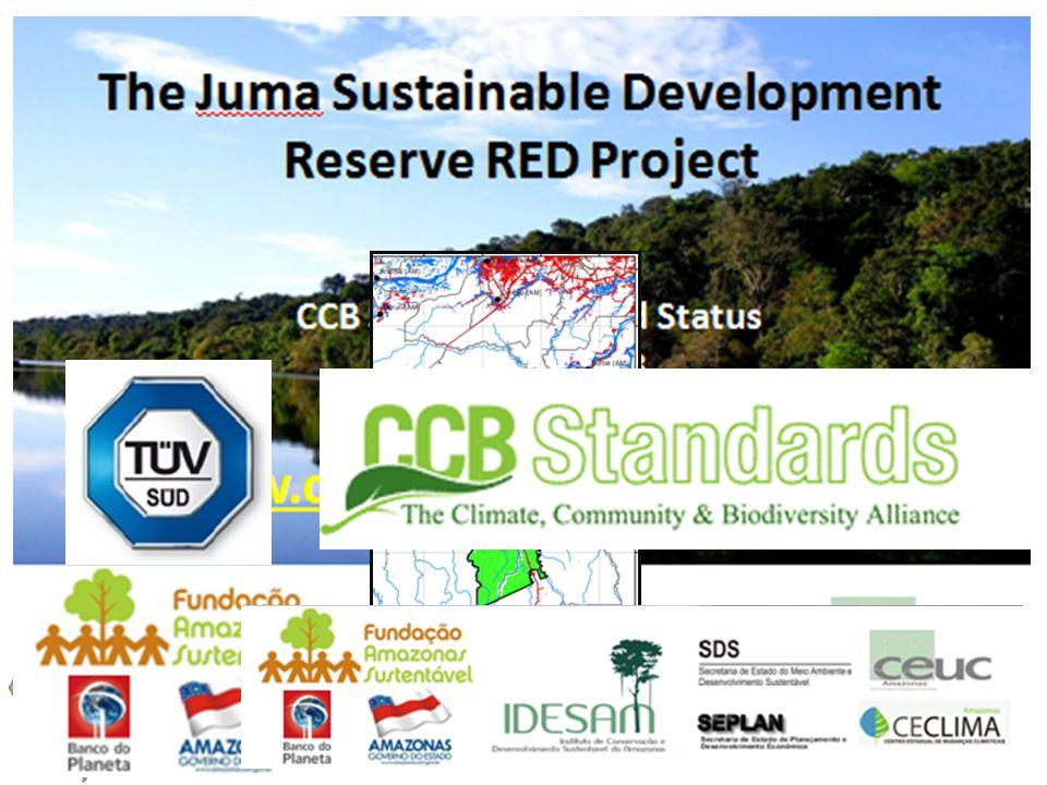Projeto de RED da RDS do Juma Área de 589.612 ha em Novo Aripuanã – AM Primeiro Projeto de REDD+ da Amazônia a ser validado nos Padrões CCB Resultado