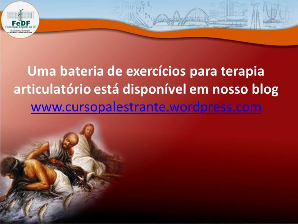 Uma bateria de exercícios para terapia articulatório está disponível em nosso blog www.cursopalestrante.wordpress.com