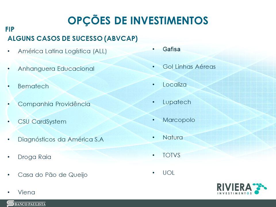 37 ALGUNS CASOS DE SUCESSO (ABVCAP) América Latina Logística (ALL) Anhanguera Educacional Bematech Companhia Providência CSU CardSystem Diagnósticos d