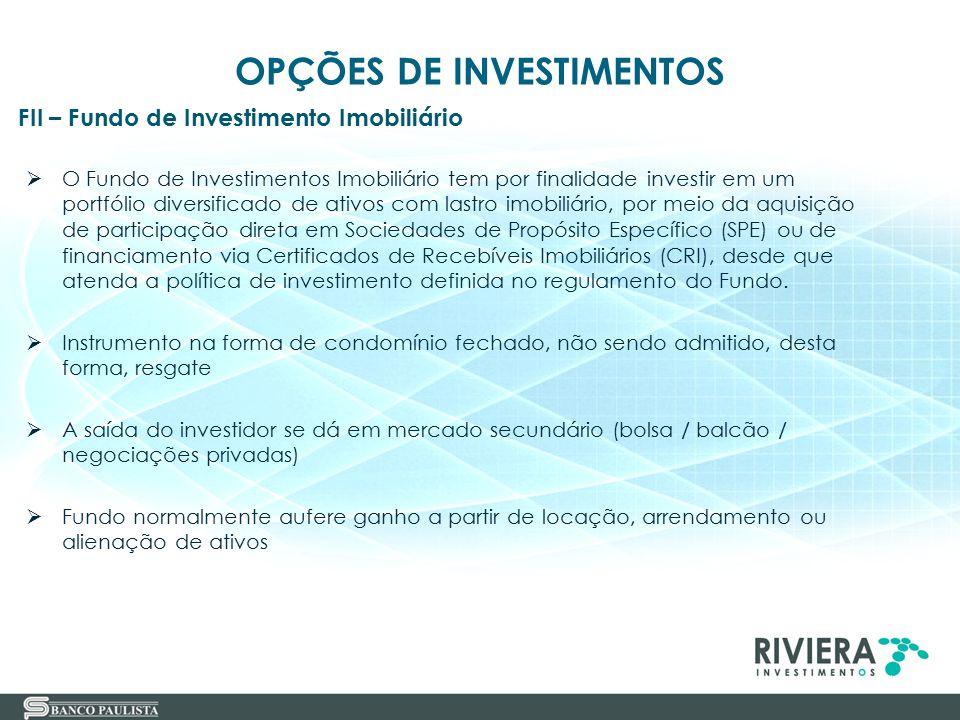 46  O Fundo de Investimentos Imobiliário tem por finalidade investir em um portfólio diversificado de ativos com lastro imobiliário, por meio da aqui