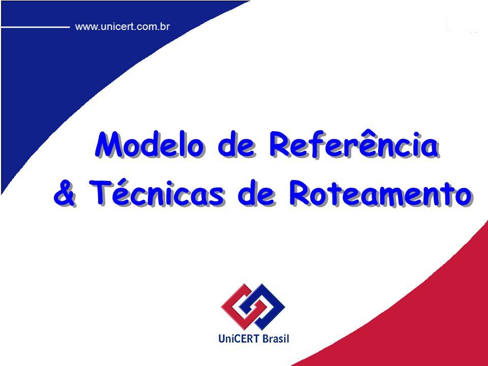 Modelo de Referência www.unicert.com.br & Técnicas de Roteamento