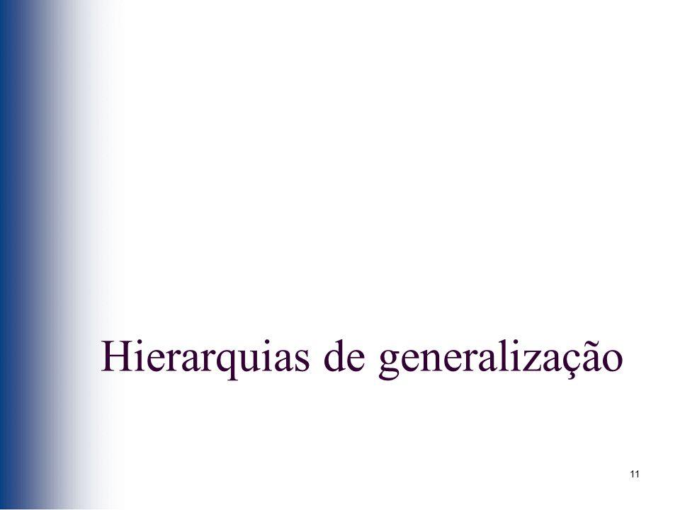 11 Hierarquias de generalização