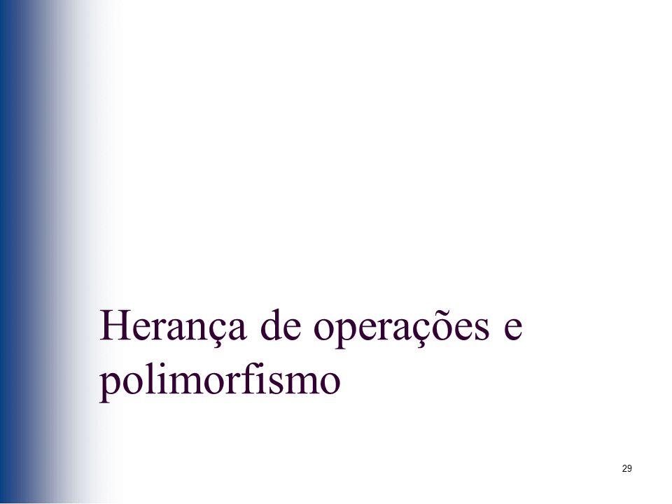 29 Herança de operações e polimorfismo