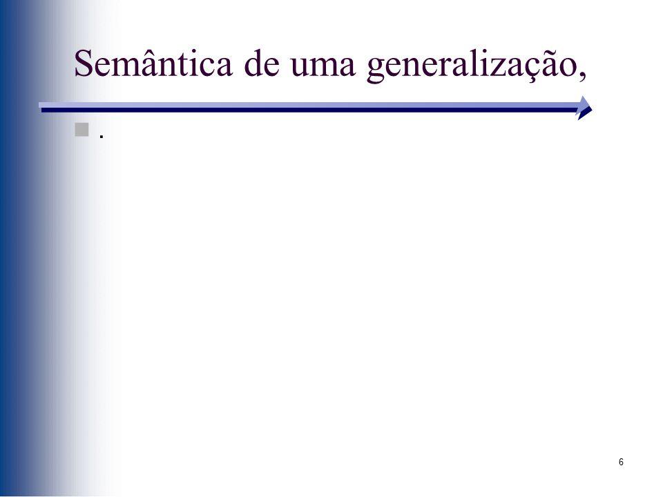 6 Semântica de uma generalização,.