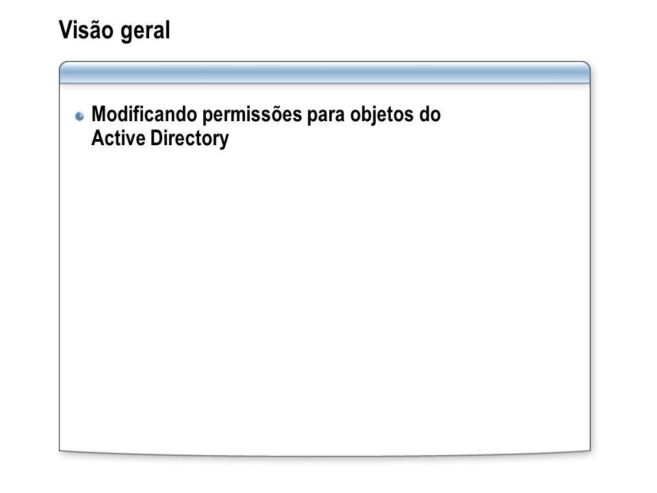 Visão geral Modificando permissões para objetos do Active Directory