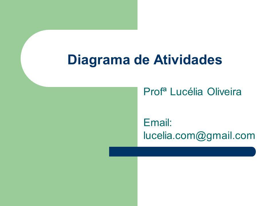 Diagrama de Atividades Profª Lucélia Oliveira Email: lucelia.com@gmail.com