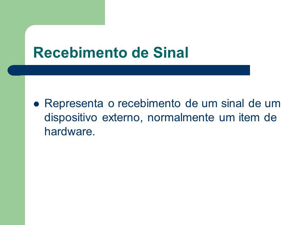 Recebimento de Sinal Representa o recebimento de um sinal de um dispositivo externo, normalmente um item de hardware.