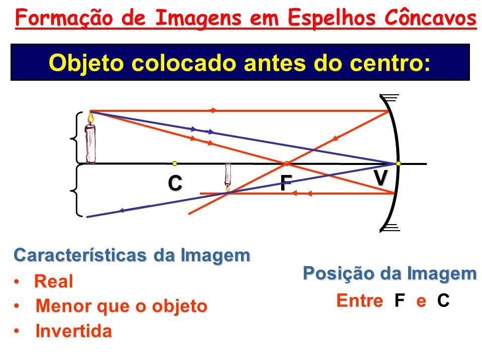 Foco Principal Todo raio que incide pelo foco, reflete paralelamente ao eixo principal