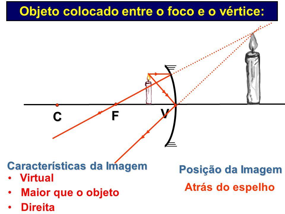 Características da Imagem Imagem Imprópria V C F Objeto colocado no foco: