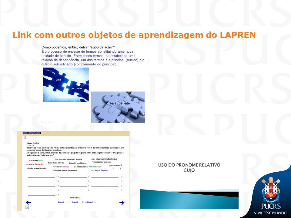Link com outros objetos de aprendizagem do LAPREN Slide 1