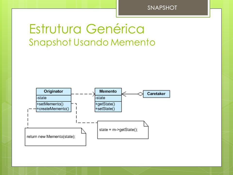 Estrutura Genérica Snapshot Usando Memento SNAPSHOT