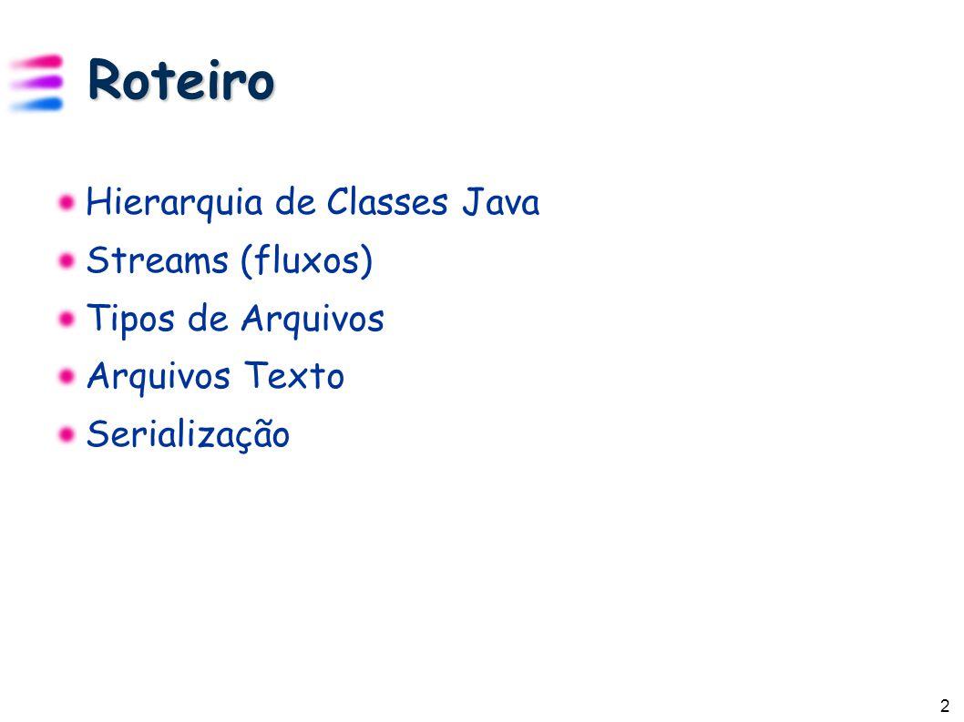 3 Hierarquia de Classes Java http://java.sun.com/j2se/1.5.0/docs/api/overview-tree.html